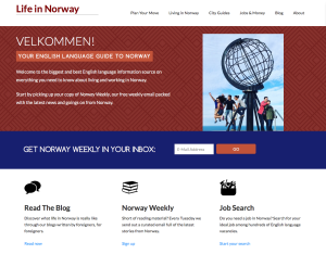 Life in Norway website